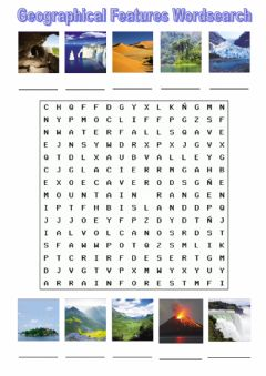 Interactive worksheet Geographical features wordsearch  tiger 6 macmillan