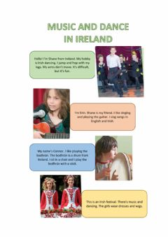 Interactive worksheet Music and dance in Ireland
