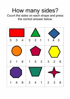 Ficha interactiva Counting Sides on Shapes