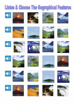 Interactive worksheet Listen and choose the geographical features tiger 6 macmillan