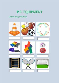 Interactive worksheet P.e. equipment