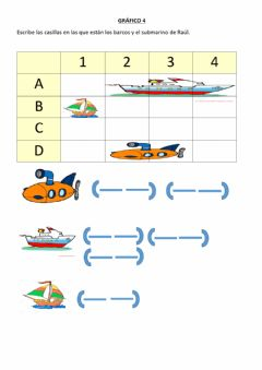 Interactive worksheet Coordenadas barcos