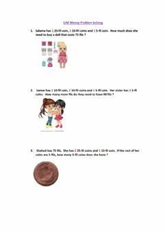Interactive worksheet UAE Money