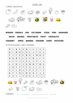 Interactive worksheet Chit chat 2 - food