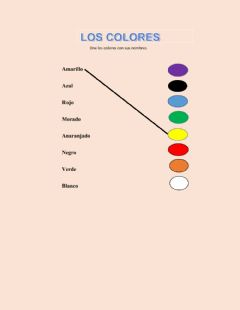 Interactive worksheet Unir los colores