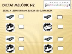 Interactive worksheet Dictat melodic n2