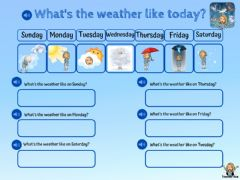 Interactive worksheet Weather - choose