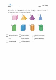 Interactive worksheet Poliedres