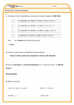 Interactive worksheet Matemática