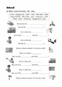 Interactive worksheet Listen and write