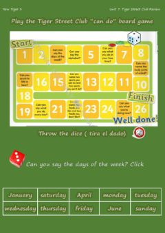 Interactive worksheet The Tiger Street Club game.New Tiger 3