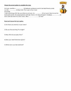 Interactive worksheet Choose and complete the story