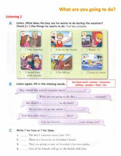 Interactive worksheet What are you going to do? 2