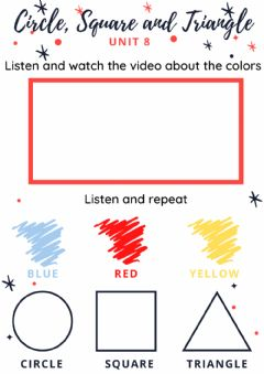 Interactive worksheet Circle, Square, Triangle and Colors