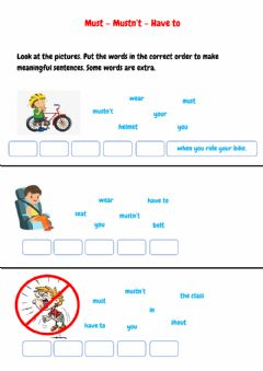 Interactive worksheet Must - Have to