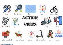 Interactive worksheet Action verbs REVIEW