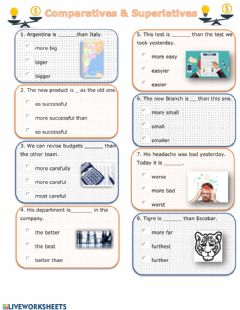 Interactive worksheet Comparatives & superlatives