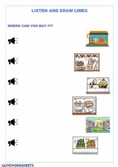 Interactive worksheet Listen and Draw Lines