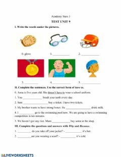 Interactive worksheet Academy Stars unit 9