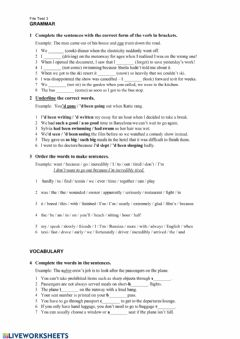 Interactive worksheet EF Upper Intermediate File 3 Test