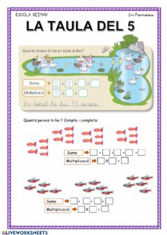 Interactive worksheet La taula del 5