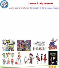 Interactive worksheet English 1. lesson A. Vocab