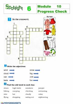 Interactive worksheet Spotlight 6 Module 10 Progress check