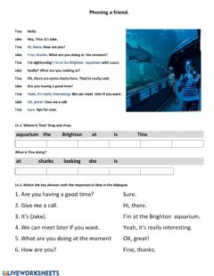 Interactive worksheet Phoning a friend