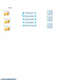 Interactive worksheet Water