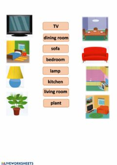 Interactive worksheet First Friends 2, Unit 5, My Home