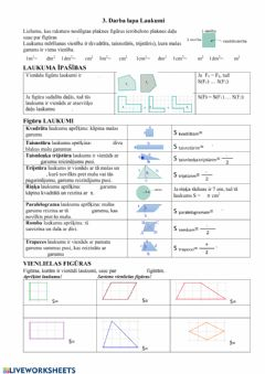 Interactive worksheet Laukums