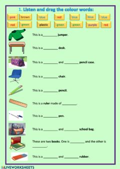 Interactive worksheet Repaso objects