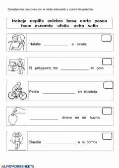 Interactive worksheet Completa oraciones