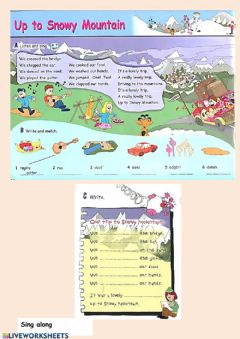 Interactive worksheet Song Up to Snowy Mountain