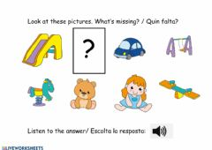Interactive worksheet Toys-in the park