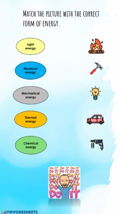 Interactive worksheet Forms of energy