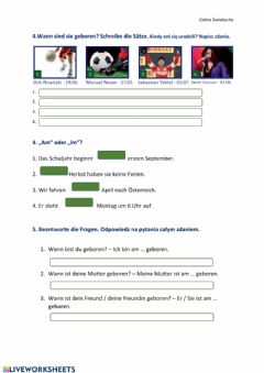 Interactive worksheet Meine Deutschtour 7 S.124