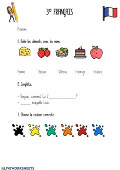 Interactive worksheet Révision 3º