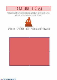 Interactive worksheet La gallinella rossa