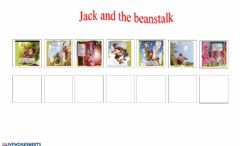 Interactive worksheet Jack and the beanstalk order 2
