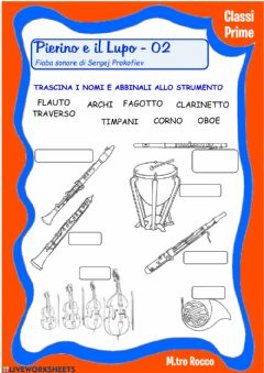 Interactive worksheet Pierino e il Lupo 02