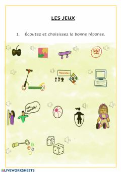 Interactive worksheet Les jeux