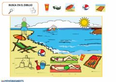 Interactive worksheet La playa