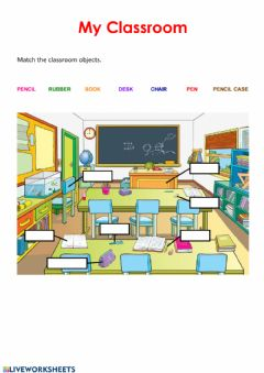 Interactive worksheet My Classroom