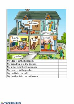 Interactive worksheet Grandma's house
