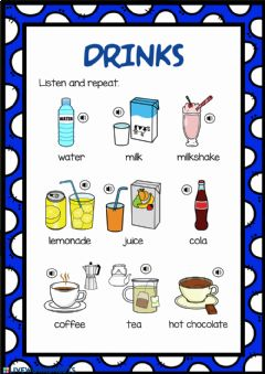 Interactive worksheet Drinks 1. Listen and repeat