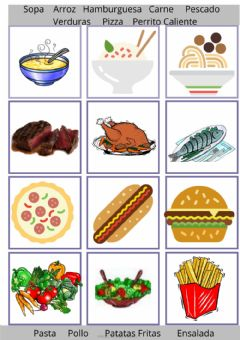Interactive worksheet Menu Restaurante