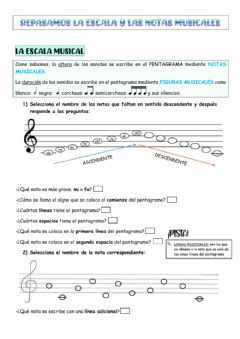 Interactive worksheet Repaso escala y notas 4º