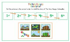 Interactive worksheet The Very Hungry Caterpillar Sequencing