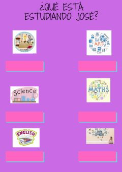 Interactive worksheet Las distintas asignaturas